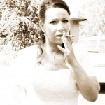 rauchende Braut